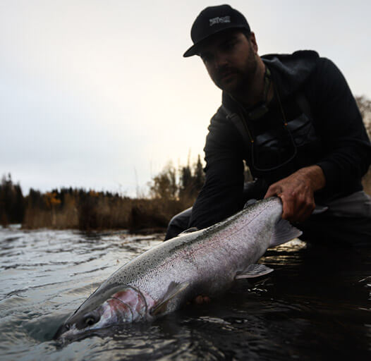 An image of an Alaskan fishing adventure with Outoging Angling.