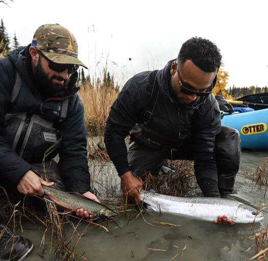An image from an Alaskan fishing adventure with Outgoing Angling.