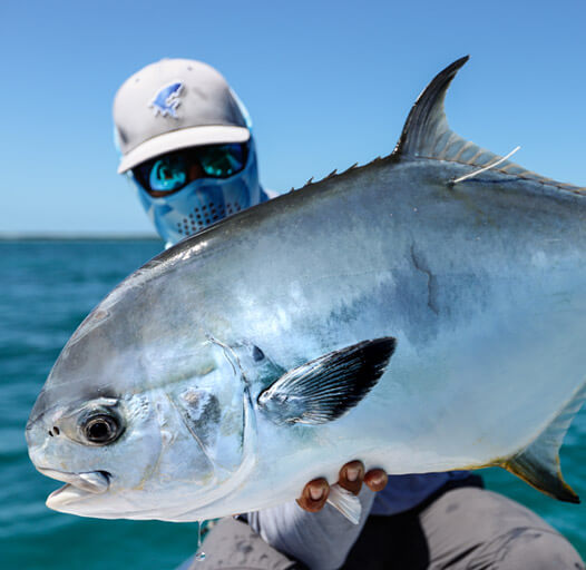 An image of Florida Keys permit fishing with Outgoing Angling.
