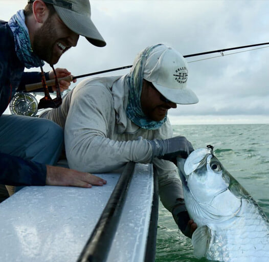 An image of fly fishing for tarpon on a Florida Keys Fishing Charter.