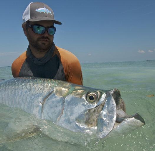 An image of tarpon fishing on the flats and backcountry of the Florida Keys.