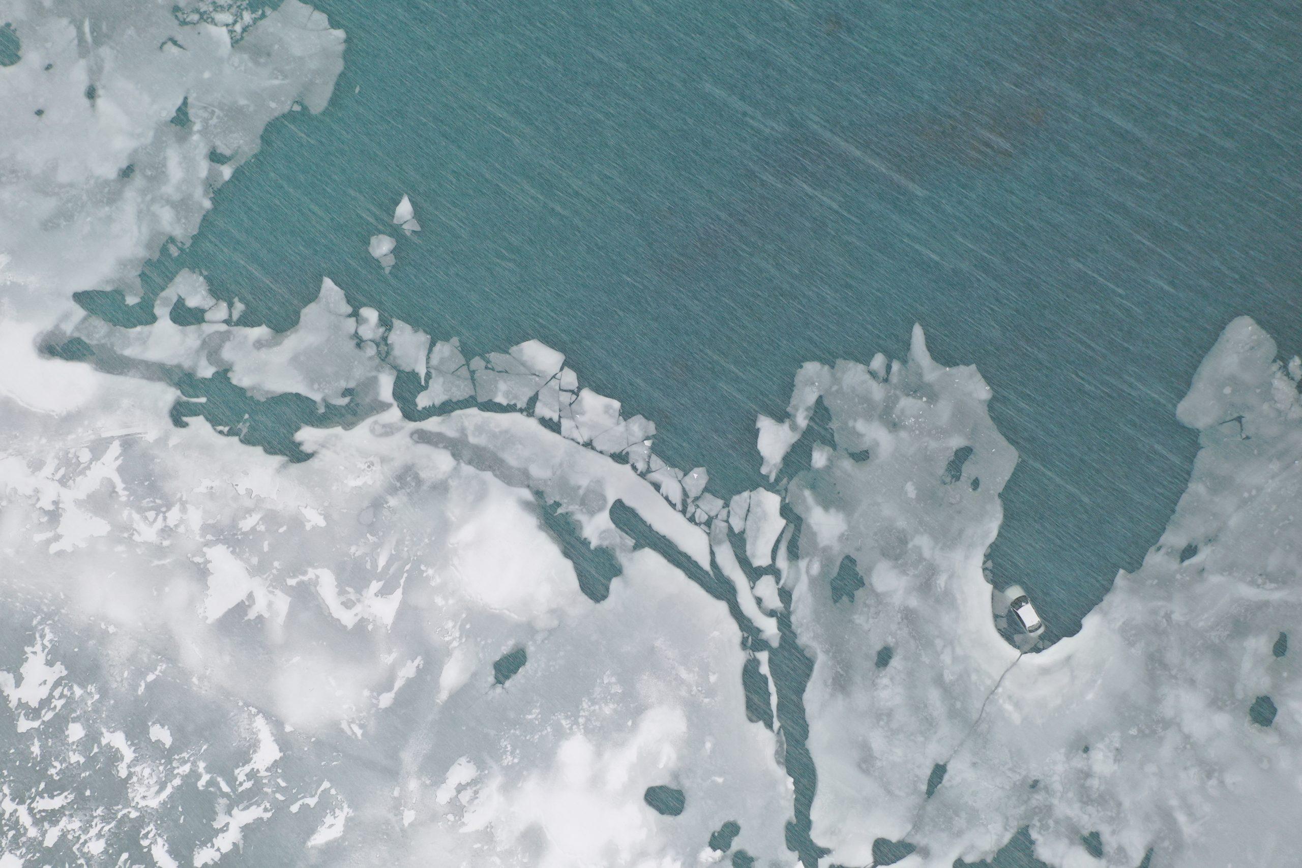 frozen kenai river