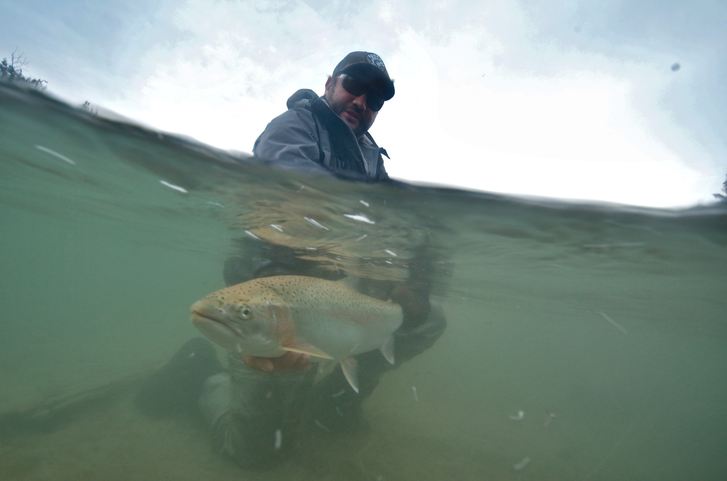 An image of an alaska trout fishing adventure with Outgoing Angling