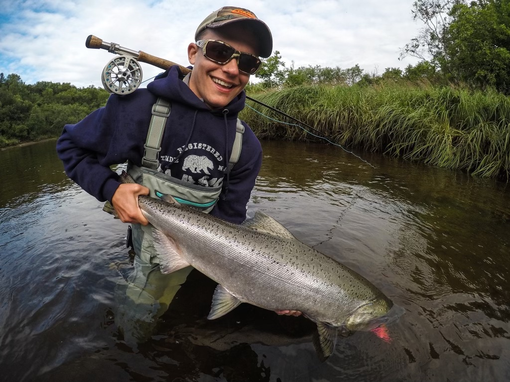 king salmon on fly