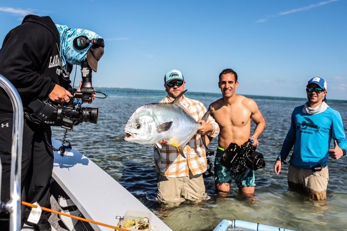 PBS film crew